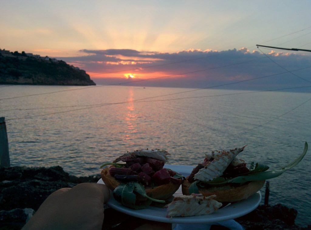 parma leuca tappa gargano peschici trabucco tramonto mare