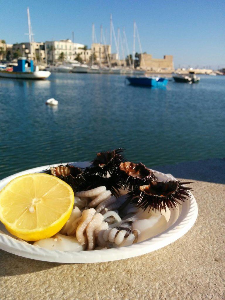 parma leuca puglia bari colazione al mercato del pesce