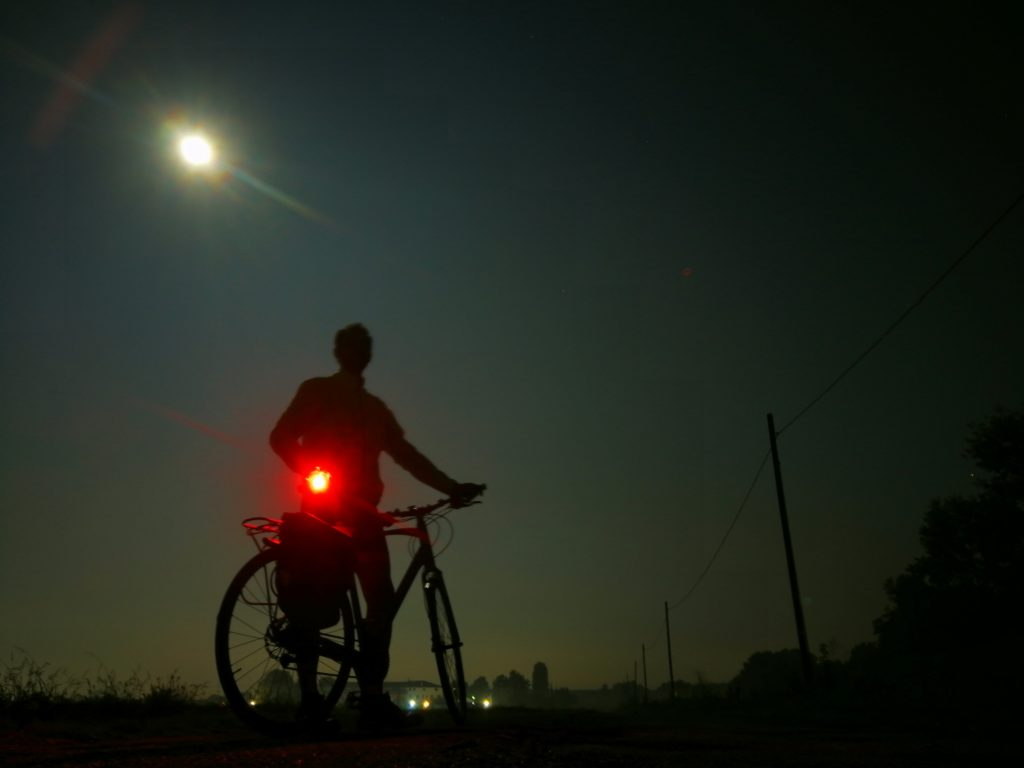 Luna piena e bici