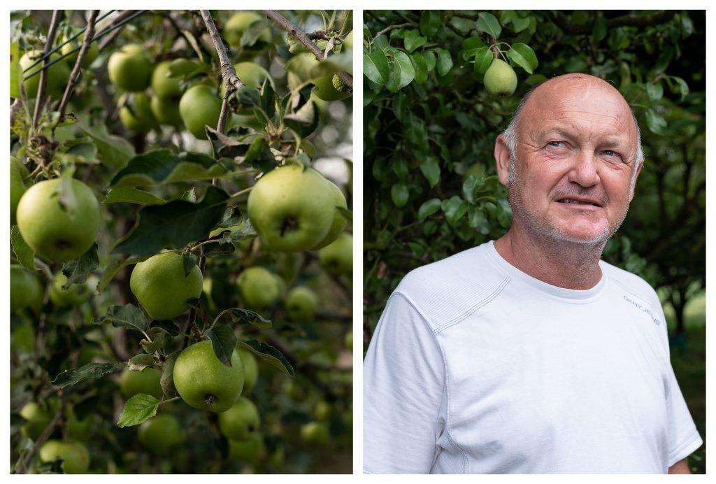 Stefano con le sue mele