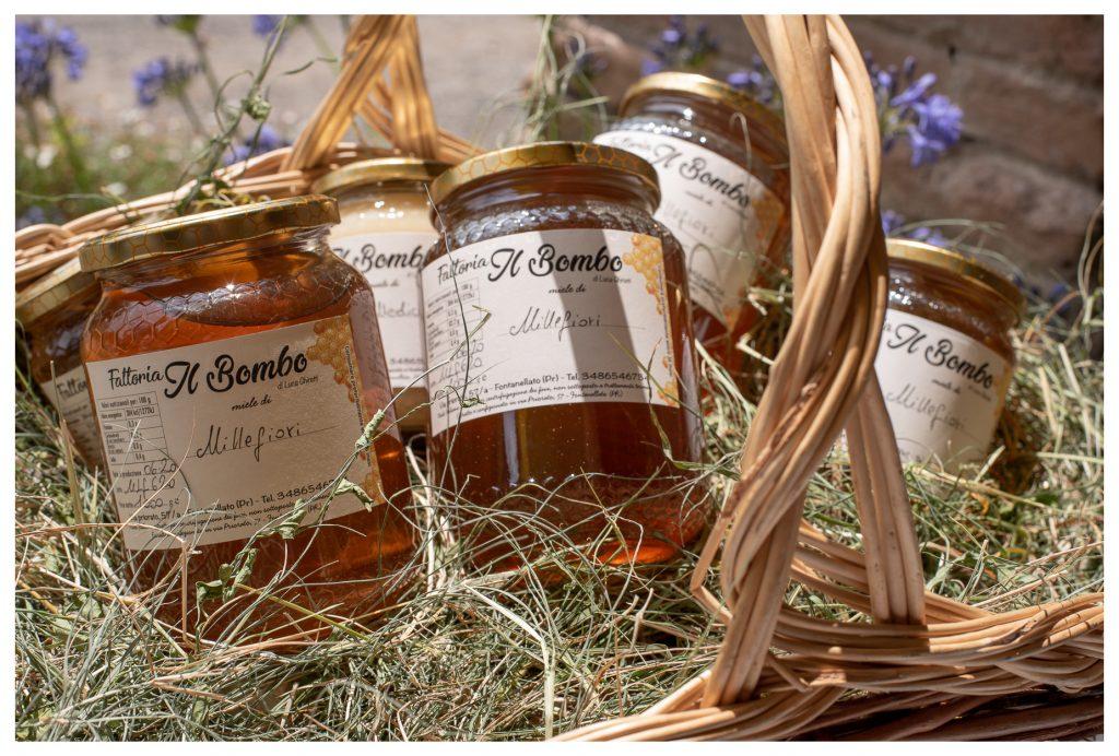 Cesto con miele Il Bombo